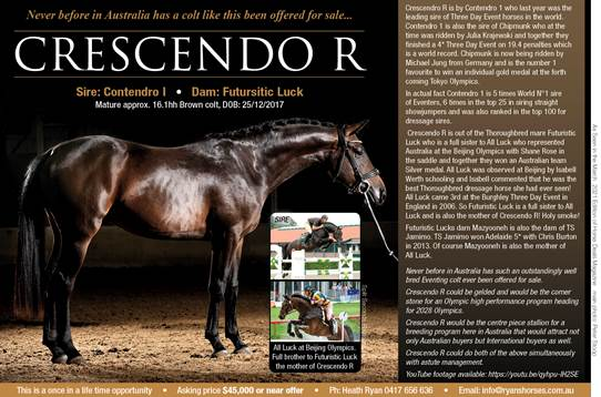 CRESCENDO R FOR SALE